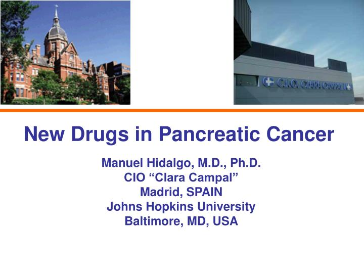 new drugs in pancreatic cancer n.