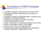 consistency of p t processes