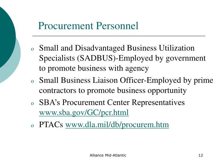 Procurement Personnel