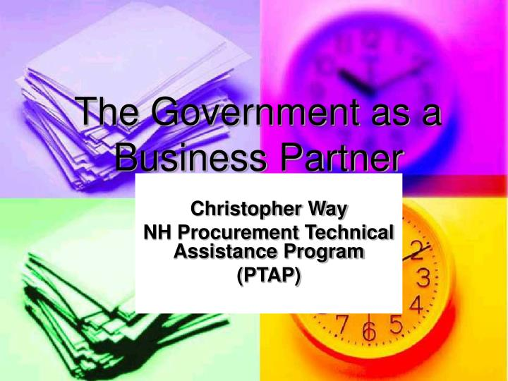 the government as a business partner n.