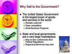 why sell to the government