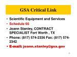 gsa critical link1