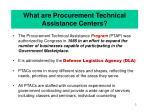 what are procurement technical assistance centers