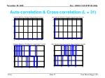 auto correlation cross correlation l 31