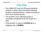 chip rate