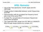 hfb remarks