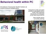 behavioral health within pc1