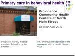 primary care in behavioral health