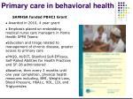 primary care in behavioral health1