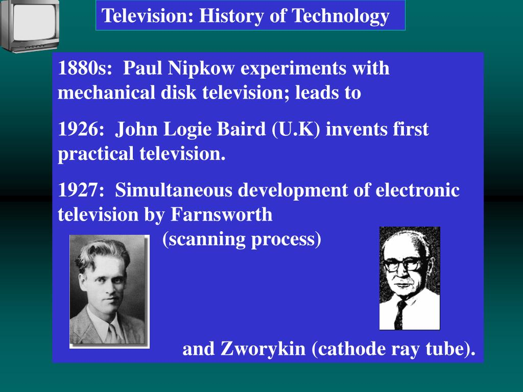 PPT - Television: History of Technology PowerPoint Presentation - ID