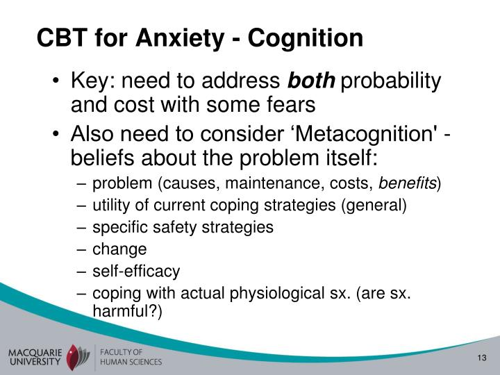 CBT for Anxiety - Cognition