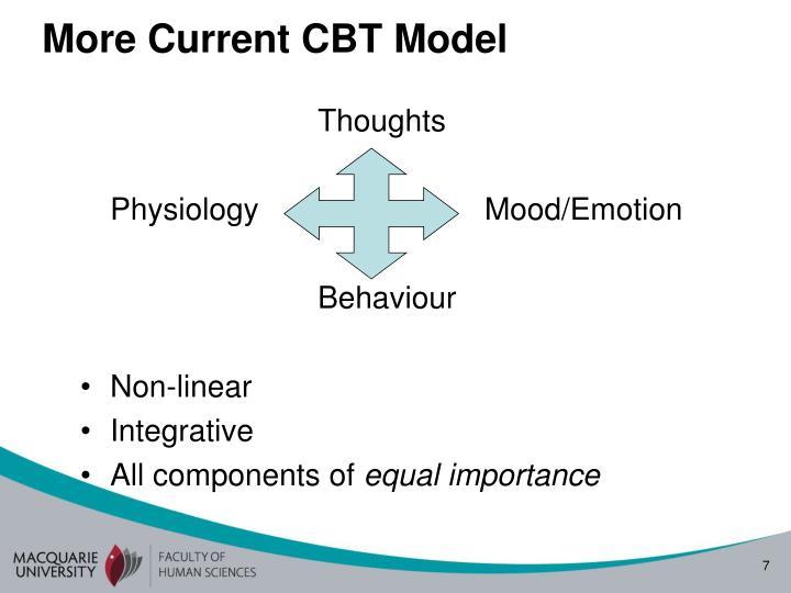 More Current CBT Model