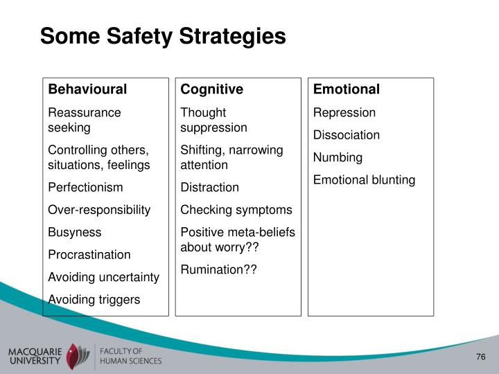 Some Safety Strategies