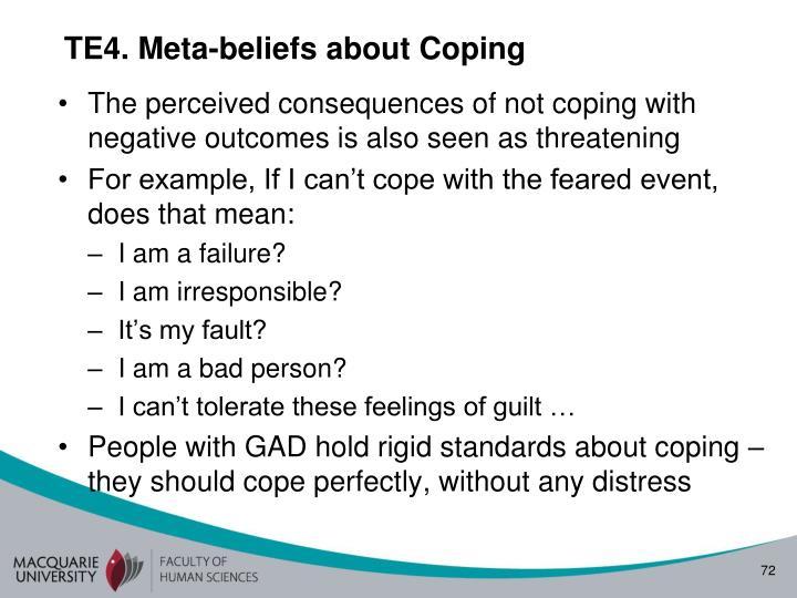TE4. Meta-beliefs about Coping