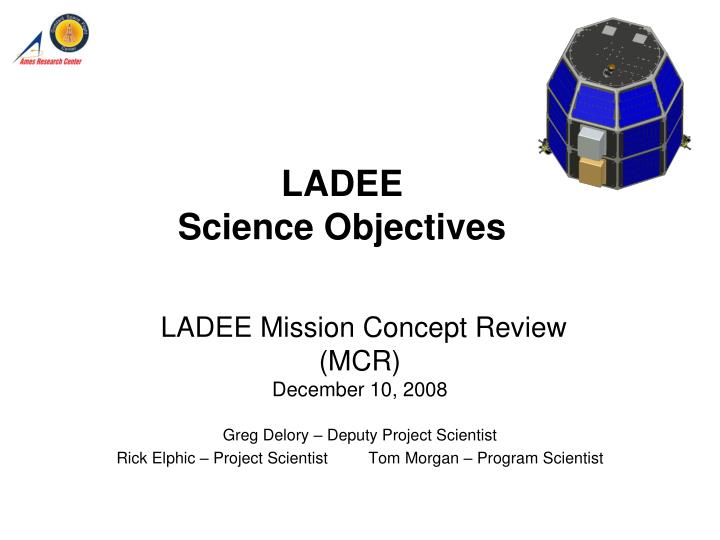 ladee science objectives n.
