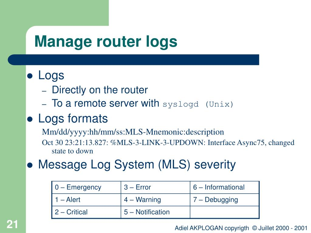 PPT - Introduction to Cisco router configuration PowerPoint