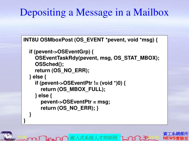 Depositing a Message in a Mailbox