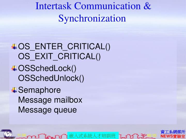 Intertask Communication & Synchronization