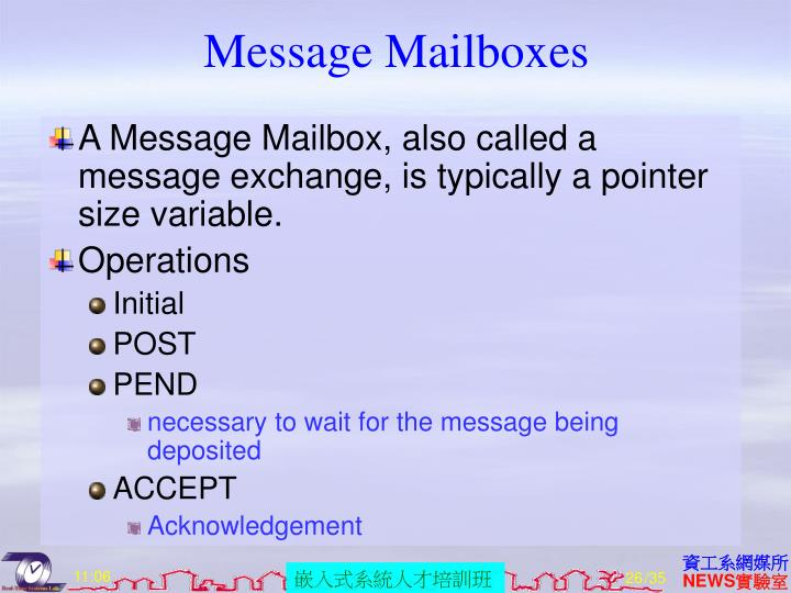 Message Mailboxes