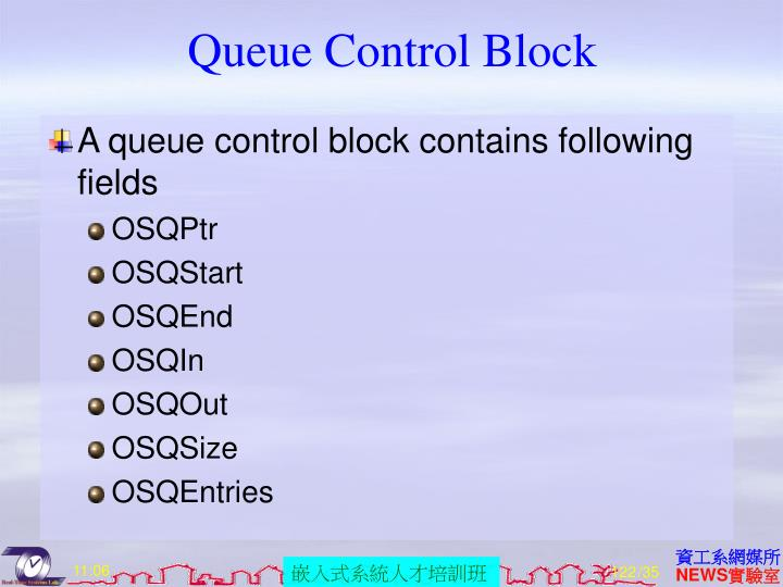 Queue Control Block