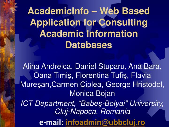 academicinfo web based application for consulting academic information databases n.