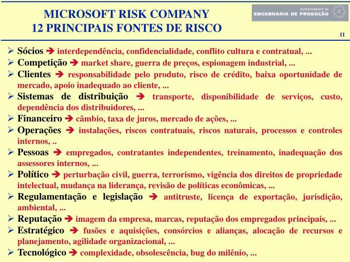 MICROSOFT RISK COMPANY