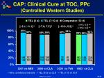 cap clinical cure at toc ppc controlled western studies