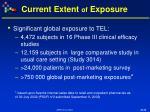 current extent of exposure