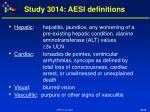 study 3014 aesi definitions