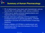 summary of human pharmacology