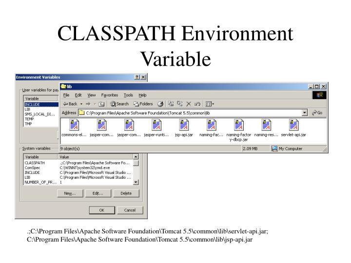 CLASSPATH Environment Variable