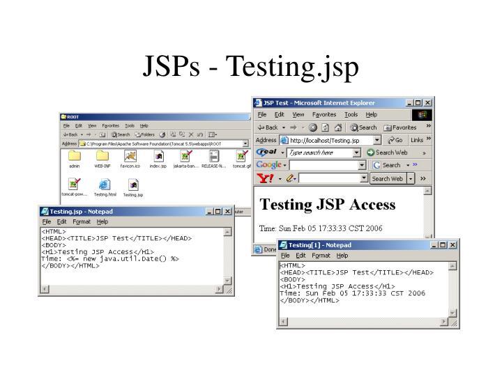 JSPs - Testing.jsp