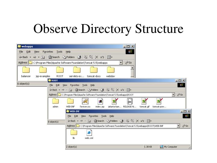 Observe Directory Structure