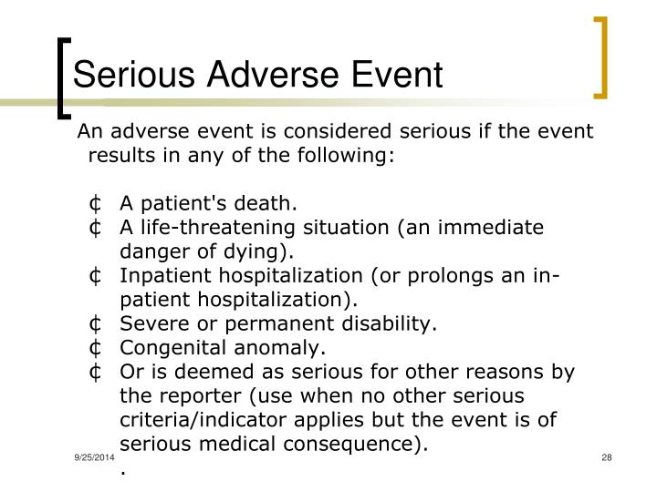 Serious Adverse Event
