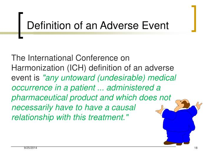 Definition of an Adverse Event
