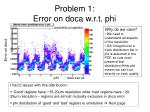 problem 1 error on doca w r t phi