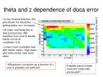 theta and z dependence of doca error