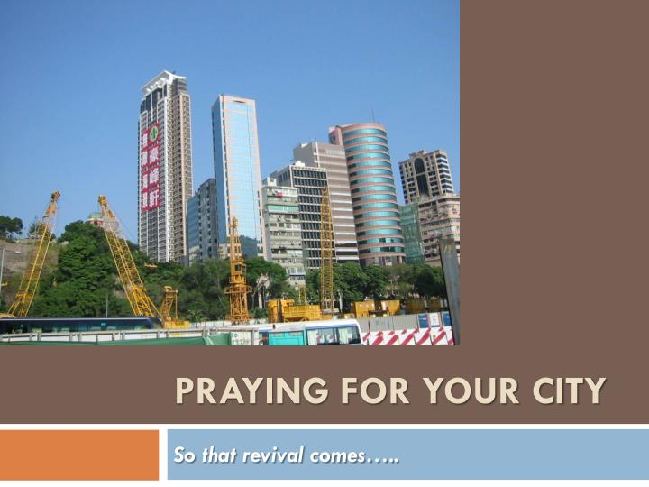 praying for your city n.