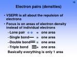 electron pairs densities