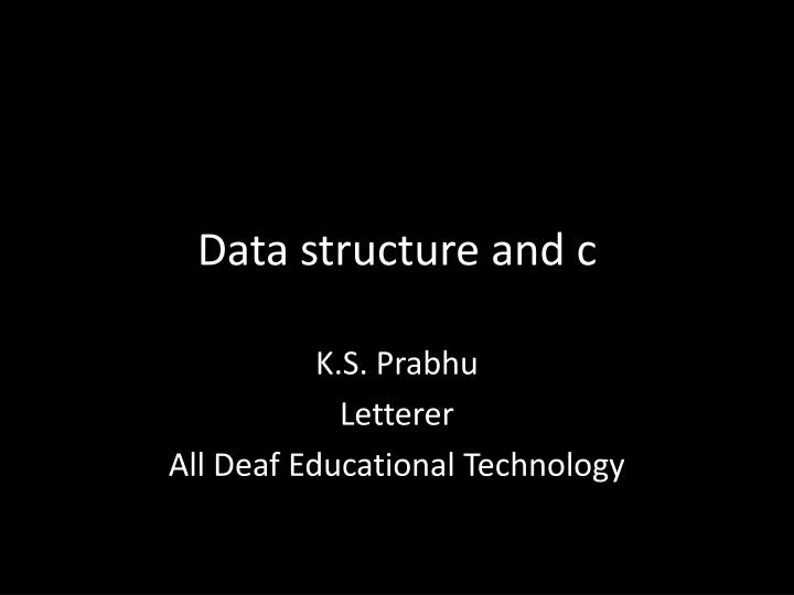 data structure and c n.