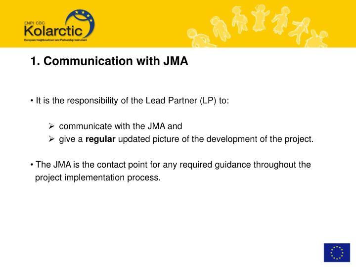 1. Communication with JMA