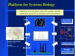 platform for systems biology