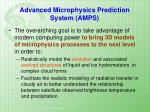 advanced microphysics prediction system amps