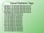cloud radiation tags