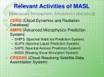 relevant activities of masl mesoscale atmospheric simulation laboratory