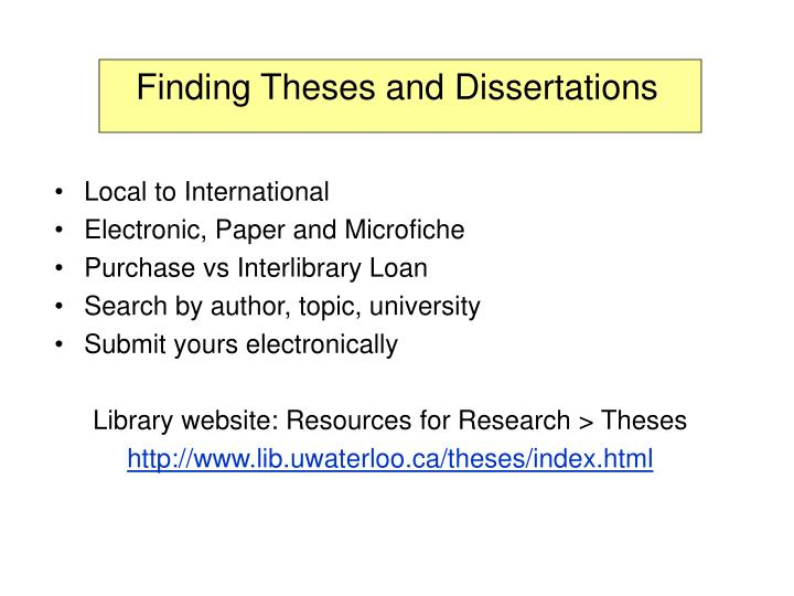 theses and dissertations ppt Guidelines for master's theses and doctoral dissertations a manual created by  office of degree requirements  graduate school university of massachusetts amherst.