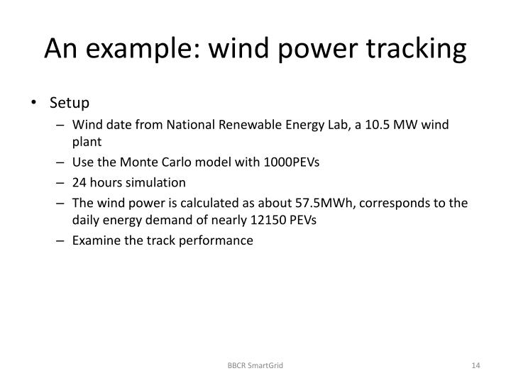 An example: wind power tracking