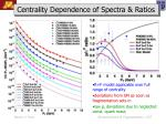 centrality dependence of spectra ratios