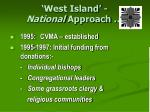 west island national approach
