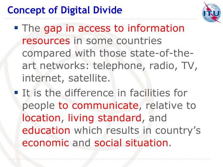 the concept of digital divide and